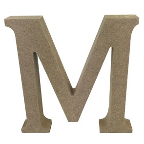 Wood Letter 11cm Natural M