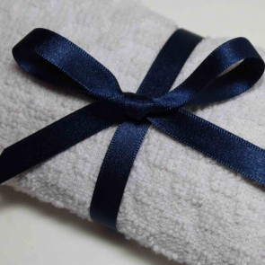 Double Face Satin Ribbon 10mm Navy (5 Metres)