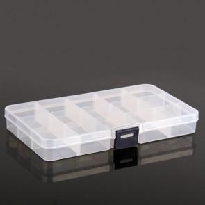 Plastic Storage Box 16.5 x 9.5 x 2cm (13 Compartment)