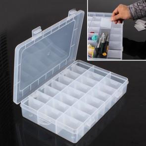 Plastic Storage Box 19 x 13.5 x 3.5cm (24 Compartment)