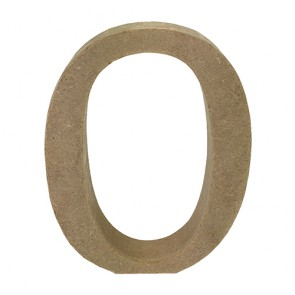 Wood Letter 11cm Natural O