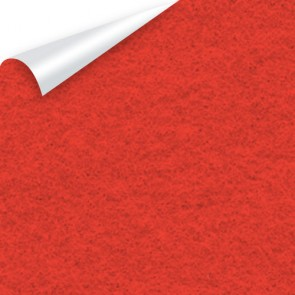 Sticky Back Felt A4 (10 Pack) Red - SLIGHT WATER DAMAGE ON BACK SIDE BUT 100% SELLABLE