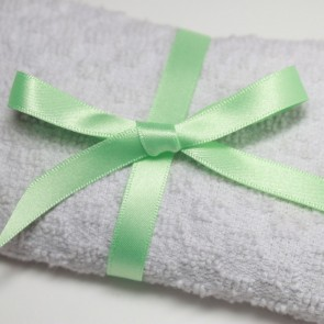 Double Face Satin Ribbon 10mm Pastel Green (5 Metres)