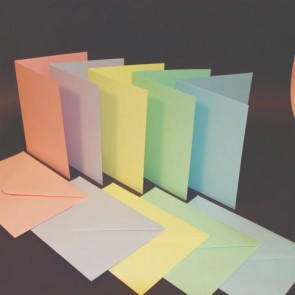 C6 Cards & Envelopes Pastel (50 Pack)