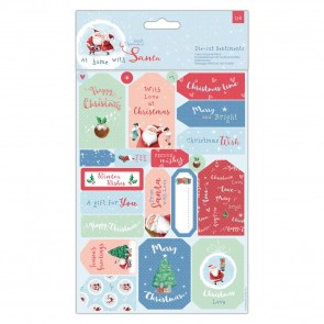 Die-cut Sentiments & Toppers (32pcs) - At Home with Santa