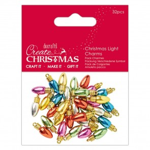 Christmas Light Charms (32 pcs) - Create Christmas