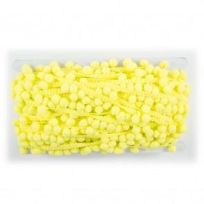 Pom-Pom Trim 0.8cm Canary Yellow (20 Metres)