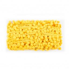 Pom-Pom Trim 0.8cm Mustard Yellow (20 Metres)