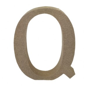 Wood Letter 11cm Natural Q