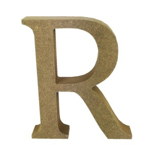 Wood Letter 11cm Natural R