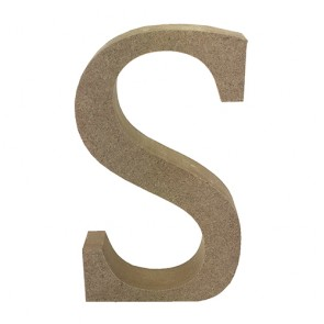 Wood Letter 11cm Natural S