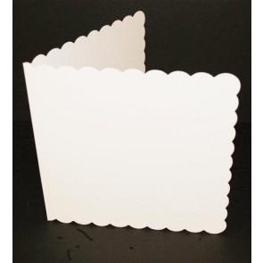 """7x7"""" Cards & Envelopes Scalloped White (25 Pack)"""