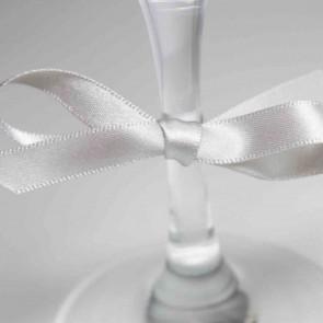 Double Face Satin Ribbon 10mm Silver (5 Metres)