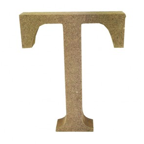 Wood Letter 11cm Natural T