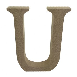 Wood Letter 11cm Natural U