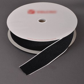 Loop Stick On Tape 5cm Black (25 Metres)