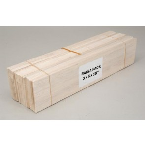 Balsa Wood Assorted Pack - 3 x 6 x 18""