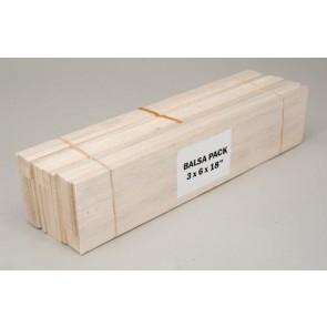 "Balsa Wood Assorted Pack - 3 x 6 x 18"""