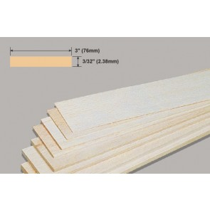 Balsa Wood Sheet - 3/32 x 3 x 36""