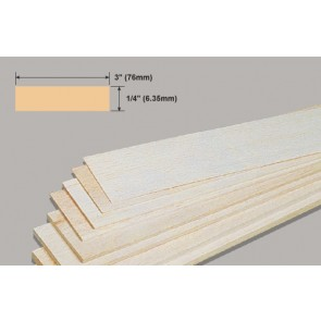 Balsa Wood Sheet - 1/4 x 3 x 36""