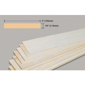 Balsa Wood Sheet - 1/8 x 4 x 36""