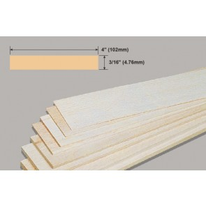Balsa Wood Sheet - 3/16 x 4 x 36""