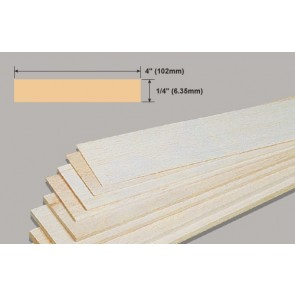 Balsa Wood Sheet - 1/4 x 4 x 36""