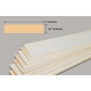 Balsa Wood Sheet - 3/8 x 4 x 36""