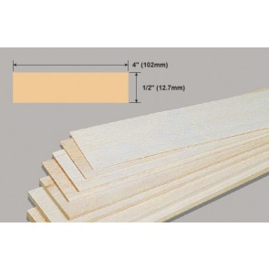 Balsa Wood Sheet - 1/2 x 4 x 36""