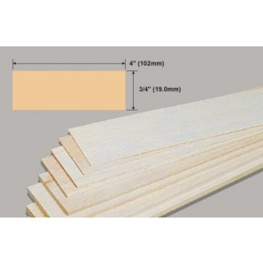 Balsa Wood Sheet - 3/4 x 4 x 36""