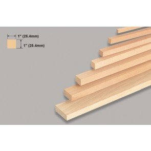 Balsa Wood Block - 1 x 1 x 36""