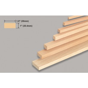 Balsa Wood Block - 1 x 1-1/2 x 36""