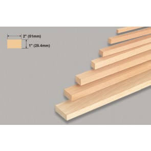 Balsa Wood Block - 1 x 2 x 36""