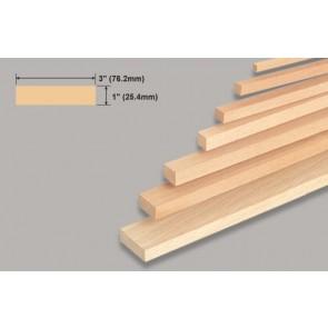 "Balsa Wood Block - 1 x 3 x 36"""