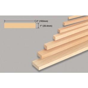 "Balsa Wood Block - 1 x 4 x 36"""