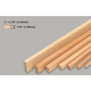 Balsa Wood Strip - 1/16 x 1/8 x 36""