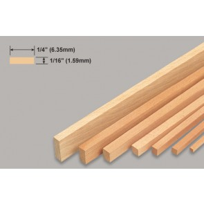 Balsa Wood Strip - 1/16 x 1/4 x 36""