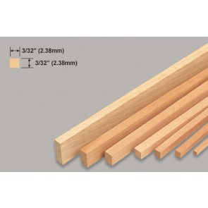Balsa Wood Strip - 3/32 x 3/32 x 36""