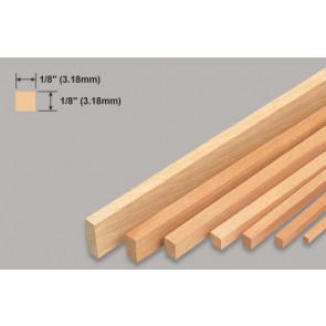 Balsa Wood Strip - 1/8 x 1/8 x 36""