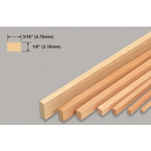 Balsa Wood Strip - 1/8 x 3/16 x 36""