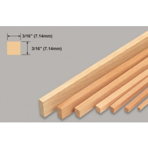 Balsa Wood Strip - 3/16 x 3/16 x 36""