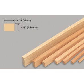 Balsa Wood Strip - 3/16 x 1/4 x 36""