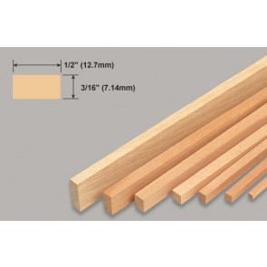 Balsa Wood Strip - 3/16 x 1/2 x 36""