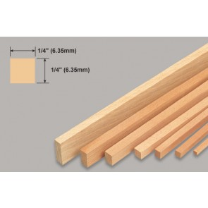 Balsa Wood Strip - 1/4 x 1/4 x 36""