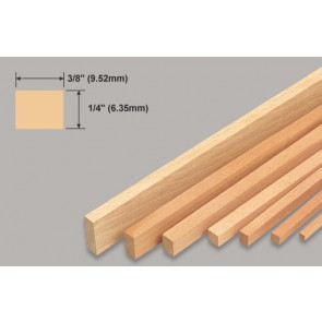 Balsa Wood Strip - 1/4 x 3/8 x 36""