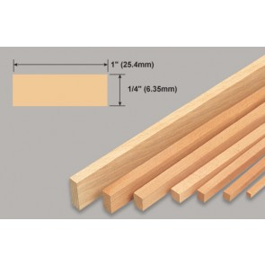 Balsa Wood Strip - 1/4 x 1 x 36""
