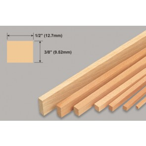 Balsa Wood Strip - 3/8 x 1/2 x 36""