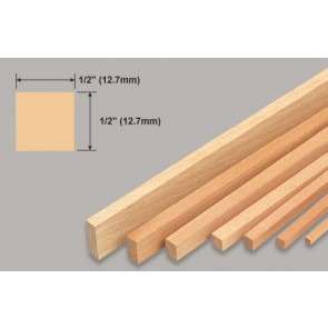 Balsa Wood Strip - 1/2 x 1/2 x 36""