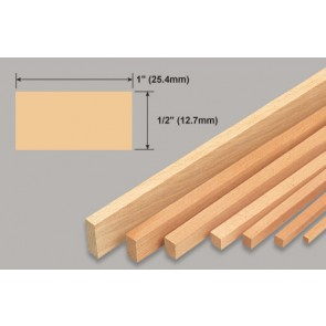 Balsa Wood Strip - 1/2 x 1 x 36""