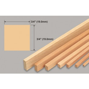 Balsa Wood Strip - 3/4 x 3/4 x 36""